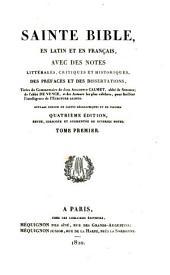 Sainte Bible en latin et en français: ouvrage enrichi de cartes géographiques et de figures, Volume1