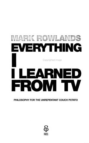 Everything I Know I Learned from TV PDF