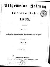 Allgemeine Zeitung München: 1839, [1]