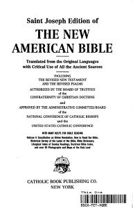 Saint Joseph Edition of The New American Bible PDF