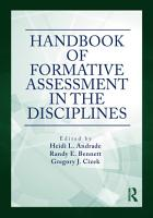 Handbook of Formative Assessment in the Disciplines PDF