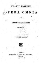 Flavii Iosephi opera omnia: Volume 1