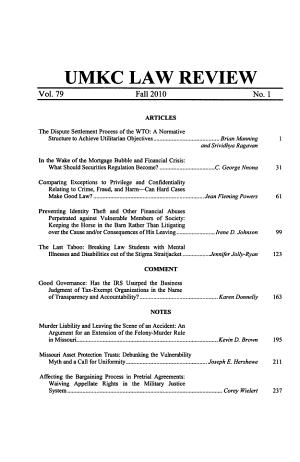 UMKC Law Review