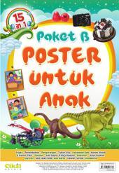 15 in 1 Paket B Poster untuk Anak