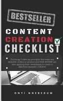 Bestseller Content Creation Checklist