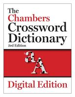 The Chambers Crossword Dictionary  3rd edition PDF