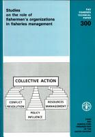 Studies on the Role of Fishermen s Organizations in Fisheries Management PDF