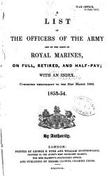A List Of The Officers Of The Army And Of The Corps Of Royal Marines Book PDF