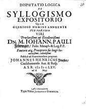 Disp. log. de syllogismo expositorio