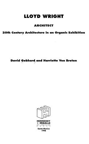 Lloyd Wright  Architect PDF