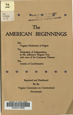 The American Beginnings PDF