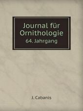 Journal f?r Ornithologie