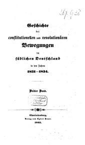 Geschichte der constitutionellen und revolutionären Bewegungen im südlichen Deutschland in den Jahren 1831-1834: Band 3