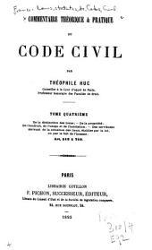 Commentaire théorique et pratique du Code civil
