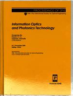 Information Optics and Photonics Technology PDF
