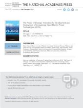 The Power of Change: Innovation for Development and Deployment of Increasingly Clean Electric Power Technologies