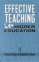 Effective Teaching in Higher Education PDF