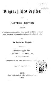 Biographisches Lexicon des Kaiserthums Österreich, enthaltend die Lebensskizzen der denkwürdigen Personen, welche 1750 bis 1850 im Kaiserstaate und in seinen Kronländern ... gelebt haben: Band 29