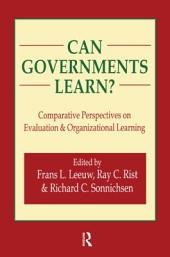 Can Governments Learn?: Comparative Perspectives on Evaluation & Organizational Learning