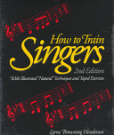 How To Train Singers Book PDF