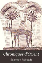 Chroniques d'Orient: documents sur les fouilles et découvertes dans l'Orient hellénique de 1883 à 1890