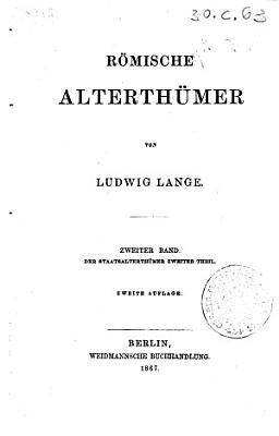Romische Alterthumer PDF