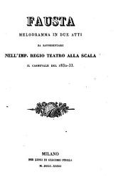 Fausta: Melodramma in 2 atti. [Komp.:] (Gaetano Donizetti.).