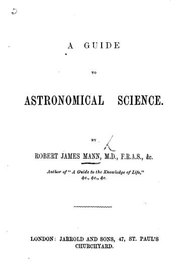 A Guide to Astronomical Science PDF