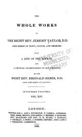 The Whole Works of Jeremy Taylor: The conclusion of The rule of conscience; The divine institution and necessity of the office ministerial; and, Rules and advices to the clergy