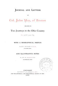 Journal and Letters of Col  John May  of Boston PDF