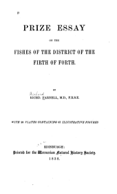 Prize Essay on the Fishes of the District of the Firth of Forth