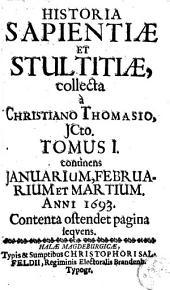Historia sapientiae et stultitiae: Volumes 1-2