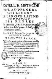 Nouvelle methode pour apprendre facilement la langue latine