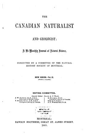 The Canadian Naturalist and Geologist PDF