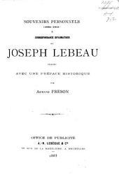Souvenirs personnels (1824-1841) and correspondance diplomatique