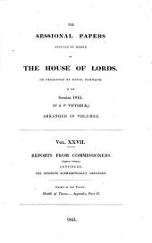 THE SESSIONAL PAPERS PRINTED BY ORDER OF THE HOUSE OF LORDS