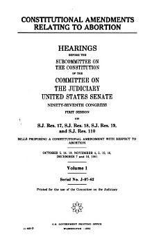Constitutional Amendments Relating to Abortion PDF