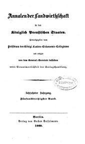 Annalen der Landwirtschaft in den königlich Preussischen Staaten: Band 35