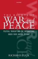 The Rights of War and Peace PDF