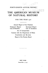 Annual Report of the Trustees of the American Museum of Natural History for the Year: Volume 48