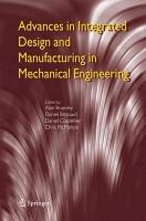 Advances in Integrated Design and Manufacturing in Mechanical Engineering PDF