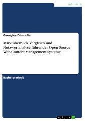Marktüberblick, Vergleich und Nutzwertanalyse führender Open Source Web-Content-Management-Systeme