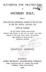 Handbook for Travellers in Southern Italy