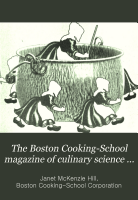 The Boston Cooking School Magazine of Culinary Science and Domestic Economics PDF
