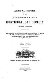 Annual Report of the Minnesota State Horticultural Society for the Year ...: Volume 18