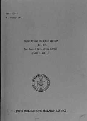 Translations on North Vietnam PDF