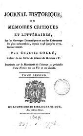 Journal historique, ou Mémoires critiques et littéraires sur les ouvrages dramatiques [&c.] depuis 1748 jusqu'en 1751: Volume2