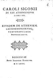 De republica Atheniensium libri quattuor