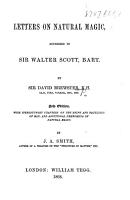 Letter on Natural Magic  addressed to Sir Walter Scott  Bart PDF