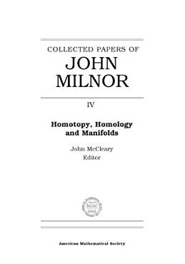 Collected Papers of John Milnor PDF